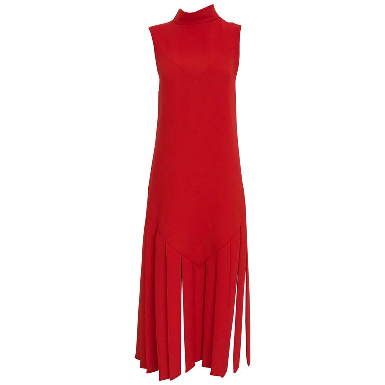Vintage Pierre Cardin Sleeveless Crepe Dress  For Sale