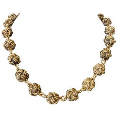 1980s Chanel Decorative Rope Beads Necklace