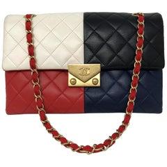 Chanel Color Block Clutch/ Bag