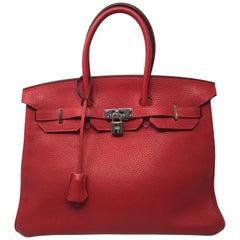 Hermes Birkin Rouge Casaque 35