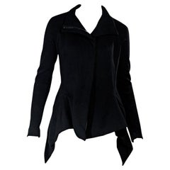 Black Gareth Pugh Fitted Cotton Jacket