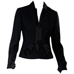 Black Valentino Virgin Wool Blazer