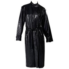 Black Vintage Pierre Balmain Raincoat