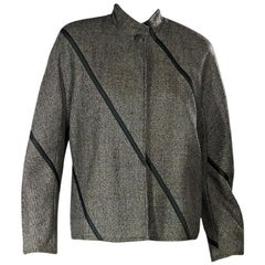 Grey Vintage Gianni Versace Wool-Blend Jacket