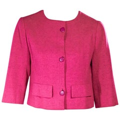 Hot Pink Vintage Balenciaga Cropped Jacket