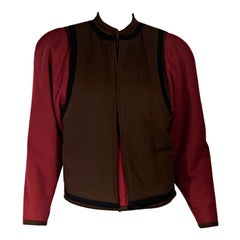 Red & Brown Gianni Versace Wool Jacket