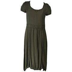 Army Green McQ Alexander McQueen Dress