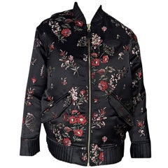 Black & Red MM6 Maison Margiela Floral Bomber Jacket