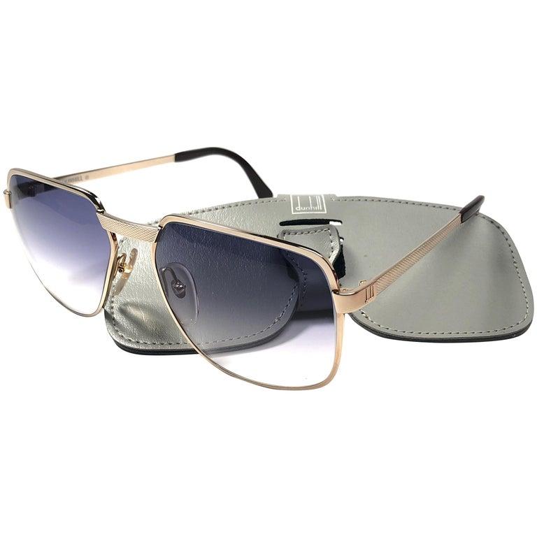 2e3f7dcb12941 New Vintage Dunhill 6021 Oversized Frame Blue Lenses Sunglasses France For  Sale