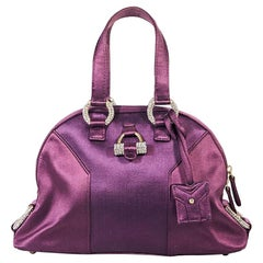 Magenta Yves Saint Laurent Satin Mini Muse Bag
