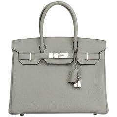 2017 Hermès Gris Mouette Togo Leather Birkin 30cm