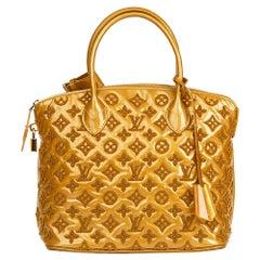 2011 Louis Vuitton Mustard Patent Lambskin Monogram Fascination Lockit