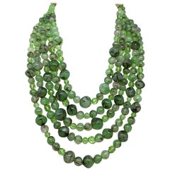 Coppola e Toppo Green Glass Bead Necklace