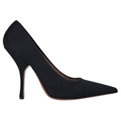 Black Alaia Wool Pumps
