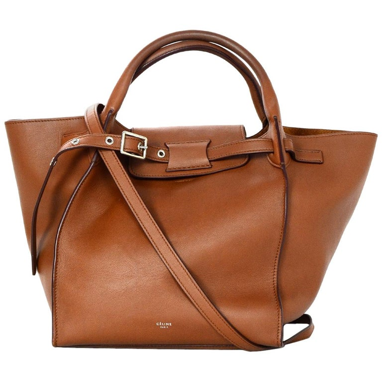 c7624028ba19 Celine 2018 Tan Leather Small Big Bag w  Buckle and Strap For Sale ...