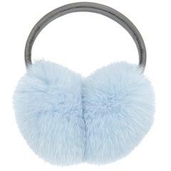 Verheyen London Fur Ear Muffs in Iced Topaz