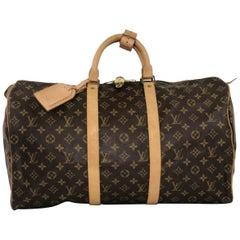 Louis Vuitton Monogram Keepall 50 Travel Top Handle Handbag