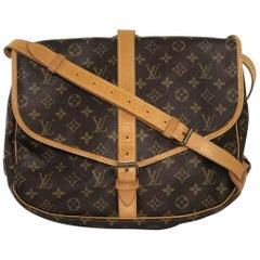 Louis Vuitton Monogram Saumur 35 Crossbody Shoulder Handbag