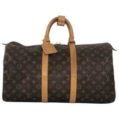Louis Vuitton Monogram Keepall 45 Travel Top Handle Handbag
