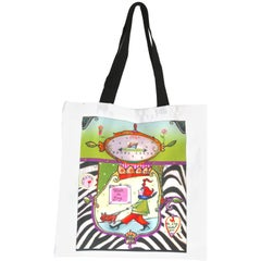 Adorable Artist Shopping Novelty Bag- Lucite Artst Painted Label-Hang as Art