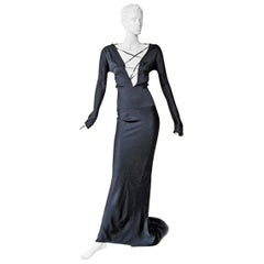 Gucci by Tom Ford 2002 Helen Hunt Dress Gown Worn on Red Carpet NWT!