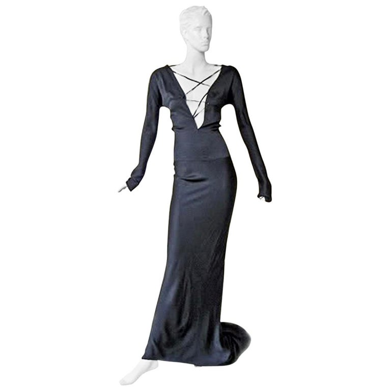 Gucci by Tom Ford 2002 Helen Hunt Dress Gown Worn on Red Carpet NWT! For Sale