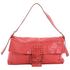Fendi Giant Baguette Whipstitched Leather
