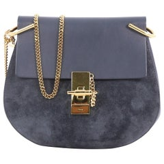 Chloe Drew Crossbody Bag Leather and Suede Small