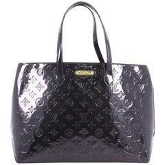 Louis Vuitton Wilshire Handbag Monogram Vernis MM