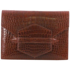 Hermes Faco Clutch Alligator