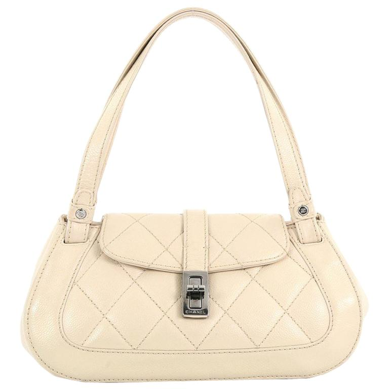 c031b5c3d6db44 Chanel Mademoiselle Lock Shoulder Bag Quilted Caviar Small at 1stdibs