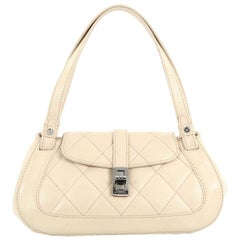 Chanel Mademoiselle Lock Shoulder Bag Quilted Caviar Small
