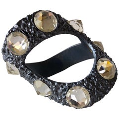 Vintage 1960's Abstract Diamante Bracelet