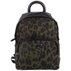 Prada Front Pocket Backpack Printed Tessuto Medium