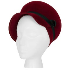 Hattie Carnegie Mod Burgundy Bubble Hat, 1960s