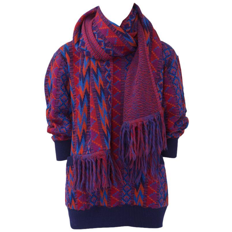 Yves Saint Laurent Runway Wool Sweater & Scarf, Fall-Winter 1982-1983