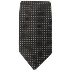 LUIGI BORRELLI Black Silk Tie