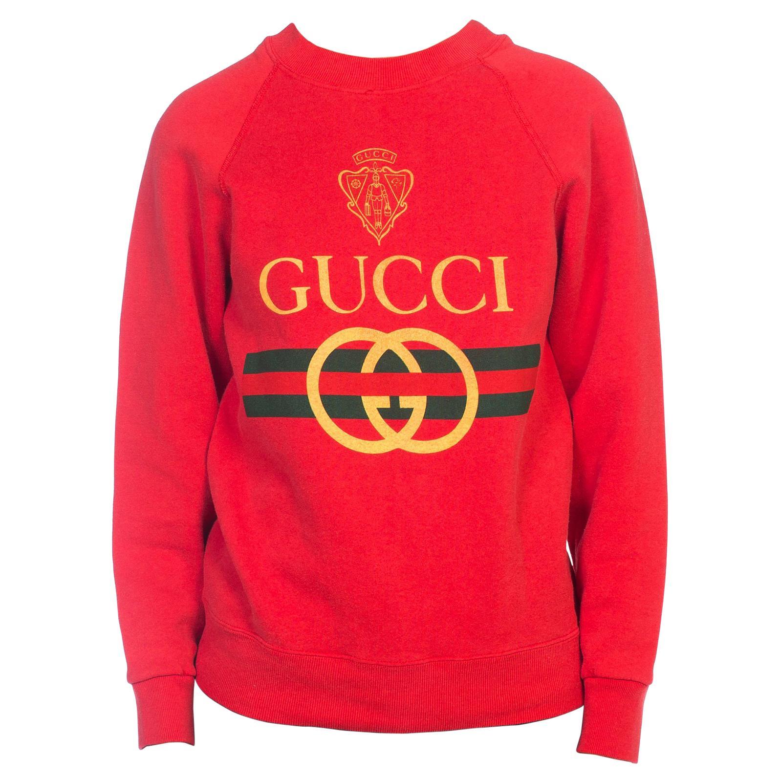 1980s Red Bootleg Gucci Sweatshirt