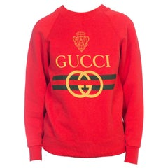 1980s Red Bootleg Gucci Sweatshirt
