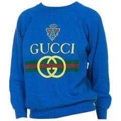 1980s Blue Bootleg Gucci Sweatshirt