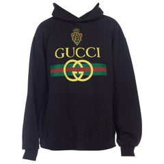 1980s Black Bootleg Hooded Gucci Sweatshirt