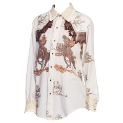 1970s Western Shirt With Beaded Fringe