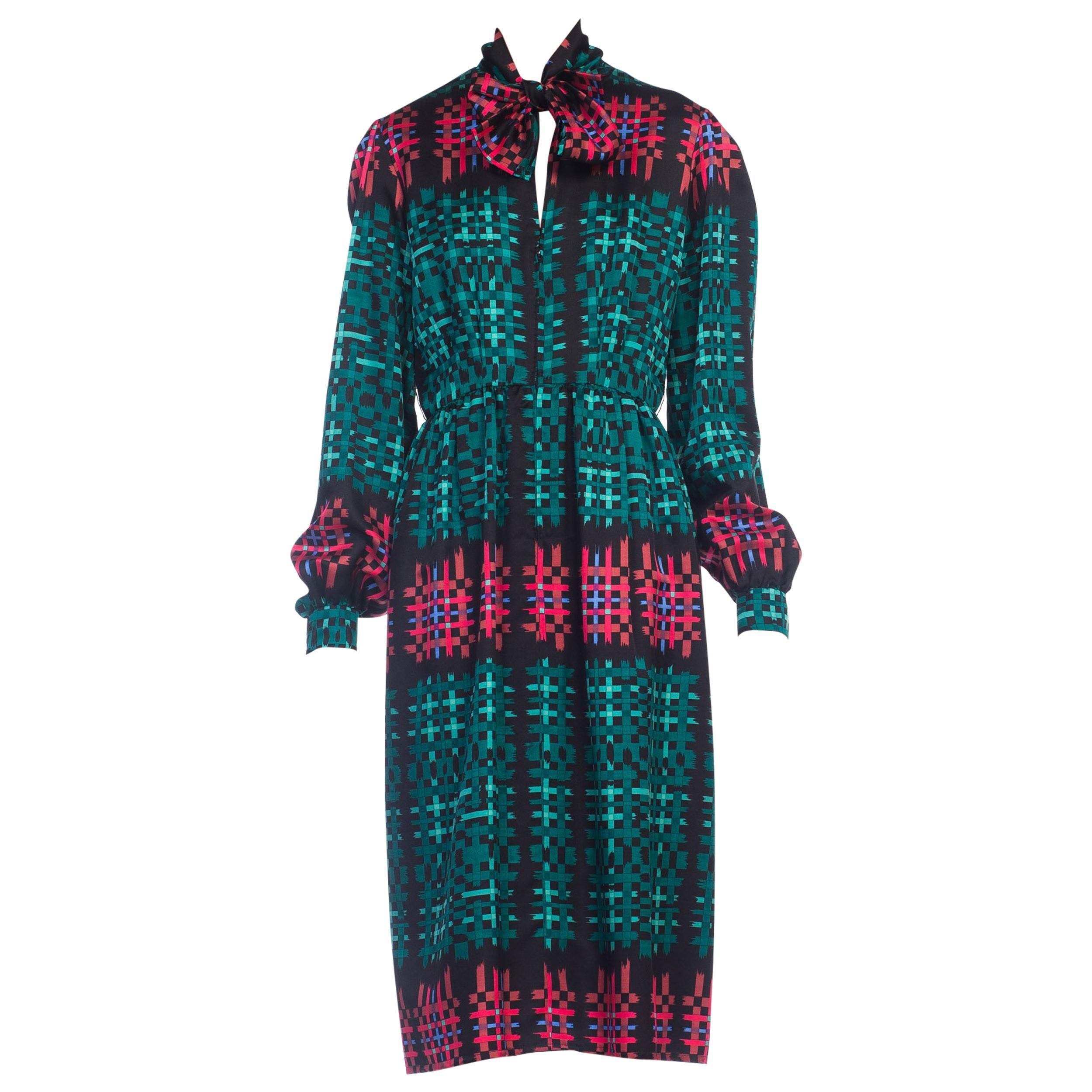 d0f04b0fc 1970s Richilene Gucci Style Plaid Dress For Sale at 1stdibs