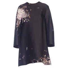 Giambattista Valli Paint Splatter Silk Jacquard Artist's Smock Tunic Dress