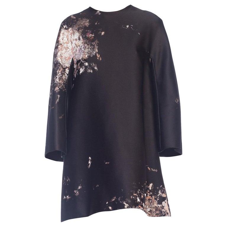 Giambattista Valli Paint Splatter Silk Jacquard Artist's Smock Tunic Dress For Sale