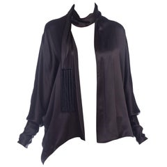 Givenchy Draped Satin Scarf Top
