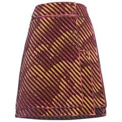 Fendi Velvet 1970s Style Skirt 1990s