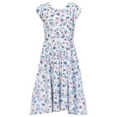 1940s Tropical Hawaiian Cotton Print Dress