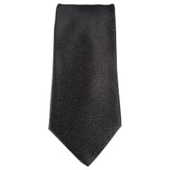 GIANNI VERSACE Charcoal Two Tone Silk Tie