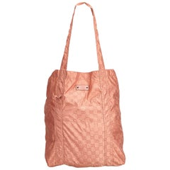 Gucci Pink Guccissima Teddy Bear Folding Shopping Bag
